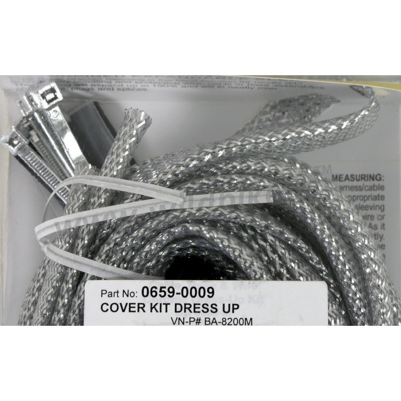 Cable Cover Dress Up Kit Chrome Universal Custom