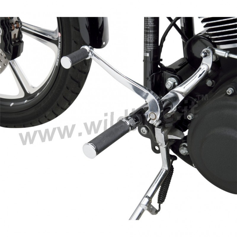 kit complet repose pieds hotop chrome pour harley davidson. Black Bedroom Furniture Sets. Home Design Ideas