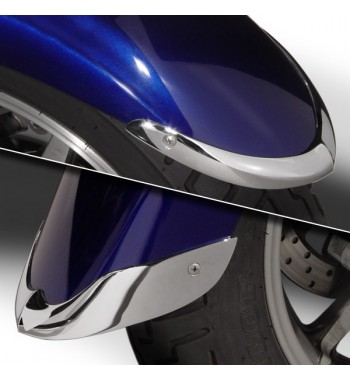 ACCENT TIPS BUMPER CHROME FRONT FENDER FOR YAMAHA XVS 1300 MIDNIGHT STAR