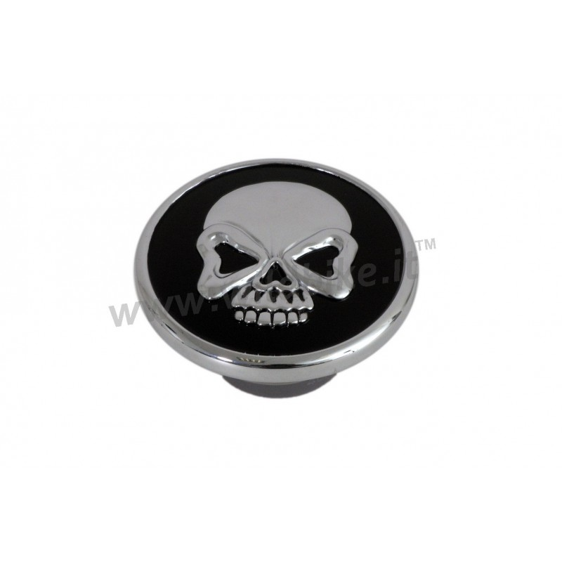 Skull Gas Cap Chrome Black For Harley Davidson Xl
