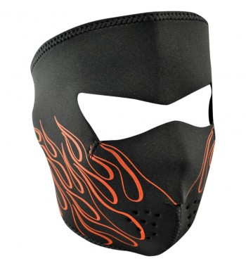 FACE MASK NEOPRENE ORANGE FLAME LETHAL DESIGN