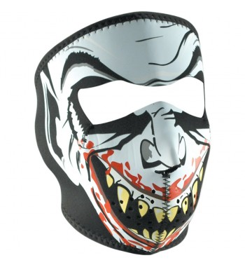 FACE MASK NEOPRENE VAMPIRE LIGHT LETHAL DESIGN