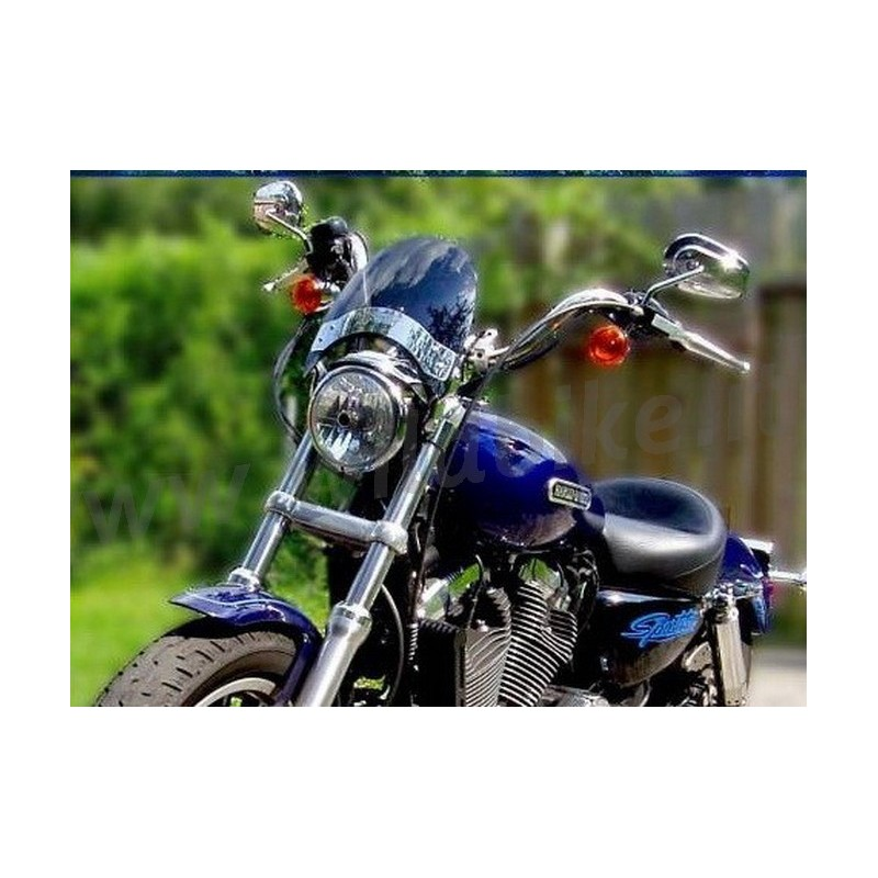 WINDSHIELD MINI FLYSCREEN SMOKED FOR HARLEY DAVIDSON XL ...