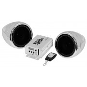 Stereo audio speaker kit for handlebars