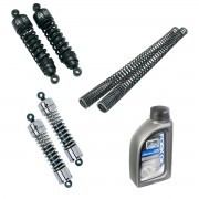 Complete suspension kit rear shock absorbers and front fork springs