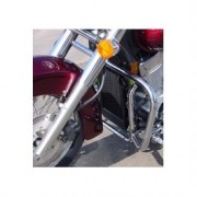 Engine guards tubes in black and chrome for Honda