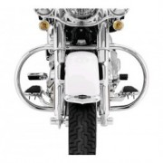 Engine guards tubes in chrome and black for Harley-Davidson