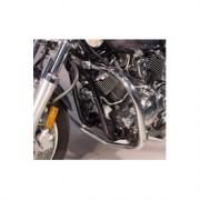 Tubi protezione motore in acciaio cromato e nero per Yamaha
